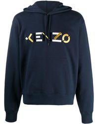 KENZO Худи С Вышитым Логотипом - Синий
