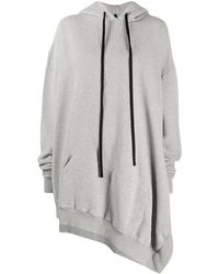 Unravel Project Asymmetric Hoodie - Grey