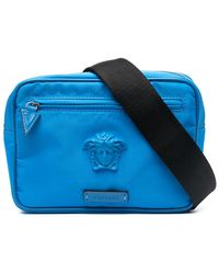 Versace Поясная Сумка С Декором Medusa - Синий