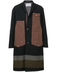 Kolor - Colour-block Fitted Coat - Lyst