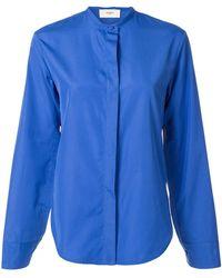 Ports 1961 Concealed Front Shirt - Blue