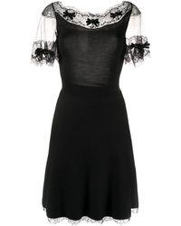 Dior - 2000's レースパネル ドレス - Lyst