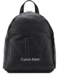 Calvin Klein Rucksack mit Rundumreißverschluss - Schwarz