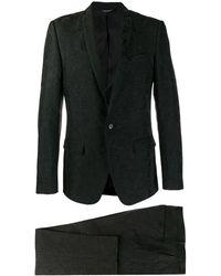 Dolce & Gabbana Traje de dos piezas con diseño en jacquard - Negro