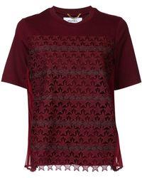 MUVEIL - Star Crochet T-shirt - Lyst