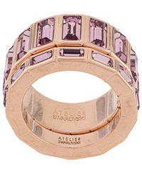 Atelier Swarovski Fluid Stacking Ring - Pink