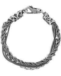 Emanuele Bicocchi Braid And Chain Bracelet - Металлик