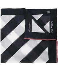 Off-White c/o Virgil Abloh Sjaal Met Diagonale Strepen - Zwart