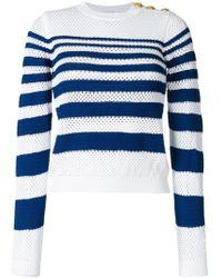 Pinko - Open Knit Striped Jumper - Lyst