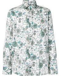 Etro Hemd mit Blumen-Print - Weiß