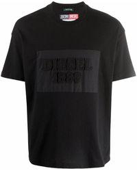 Diesel Red Tag Logo-print Cotton T-shirt - Black