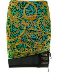 Versace Jeans - バロック レオパード スカート - Lyst