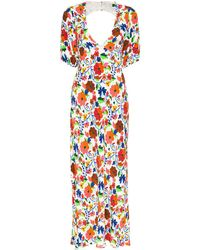 RIXO London Steph フローラル ドレス - ホワイト