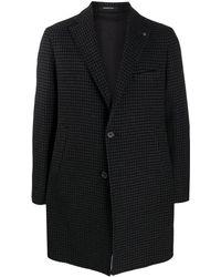 Tagliatore Однобортное Пальто В Ломаную Клетку - Черный