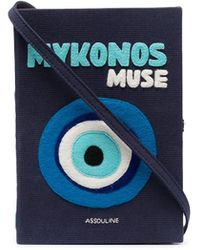 Olympia Le-Tan Mykonos Muse Book Clutch - Blue