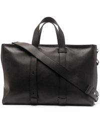 Orciani Pebbled-effect Tote Bag - Black