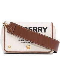 Burberry - Маленькая Сумка Через Плечо Hackberry С Принтом Horseferry - Lyst
