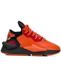 Y-3 Appliqué detail sneakers - Orange