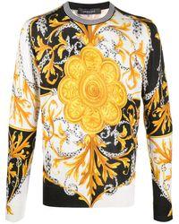 Versace バロック スウェットシャツ - ホワイト