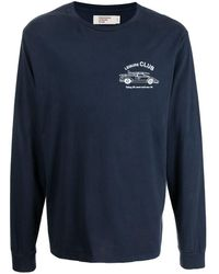 Pasadena Leisure Club Logo-print Cotton T-shirt - Blue