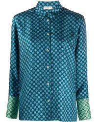 Sandro Hemd mit geometrischem Print - Blau