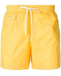 Hartford Drawstring-waist Swim Shorts - Yellow