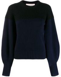 Alexander McQueen Cashmere Balloon-sleeve Sweater - Blue