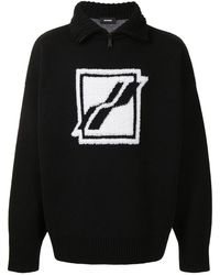 we11done Intarsia-logo Sweatshirt - Black