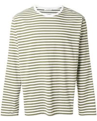 Nanamica - Striped Print Long Sleeve Top - Lyst