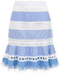 Martha Medeiros Camila Short Skirt - Blue