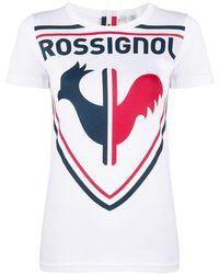 Rossignol オーバーサイズ ロゴ Tシャツ - ホワイト
