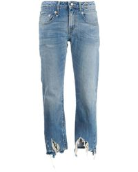 R13 Distressed Straight-cut Jeans - Blue