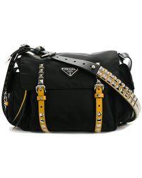 Prada - Studded Shoulder Bag - Lyst