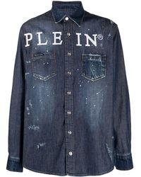 Philipp Plein デニムシャツ - ブルー