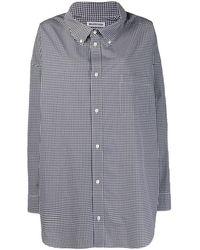 Balenciaga Рубашка Cocoon Swing В Клетку Гингем - Черный