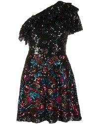 Zuhair Murad Orizuro Tulle Mini Dress - Black