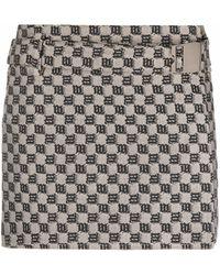 MISBHV Monogram-print Mini Skirt - Multicolor