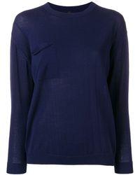 Sara Lanzi Crew Neck Sweater - Blue