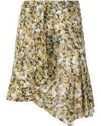 Isabel Marant Minigonna con stampa a fiori - Bianco