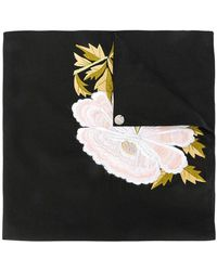 Ann Demeulemeester - Embroidered Peony Scarf - Lyst