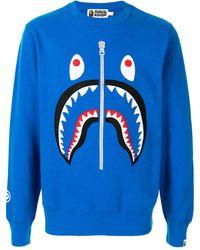 A Bathing Ape Shark スウェットシャツ - ブルー
