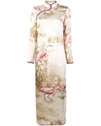 F.R.S For Restless Sleepers - Printed Long Cheongsam Dress - Lyst