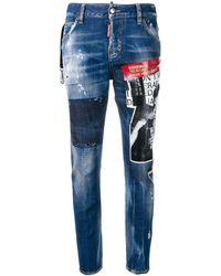 DSquared² 'No Imitators' Jeans - Blau