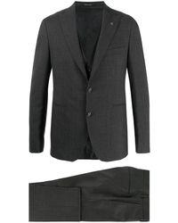 Tagliatore Dreiteiliger Anzug mit Streifen - Grau