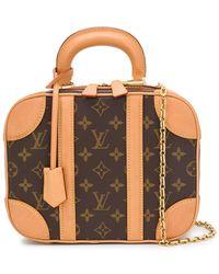 Louis Vuitton Mini sac à main à motif monogrammé - Marron