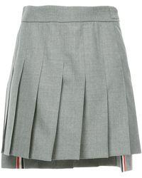 Thom Browne - Dropped Back Mini Pleated Skirt In School Uniform Plain Weave - Lyst