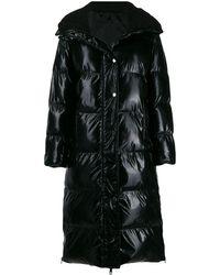 P.A.R.O.S.H. Long Puffer Jacket - Black