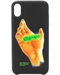 Off-White c/o Virgil Abloh Hand Print Iphone Xs Max Case - Black