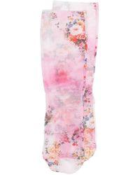 MSGM Сетчатые Носки С Цветочным Узором - Розовый
