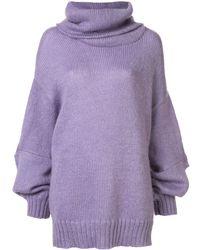 Undercover Oversized Roll-neck Jumper - Purple